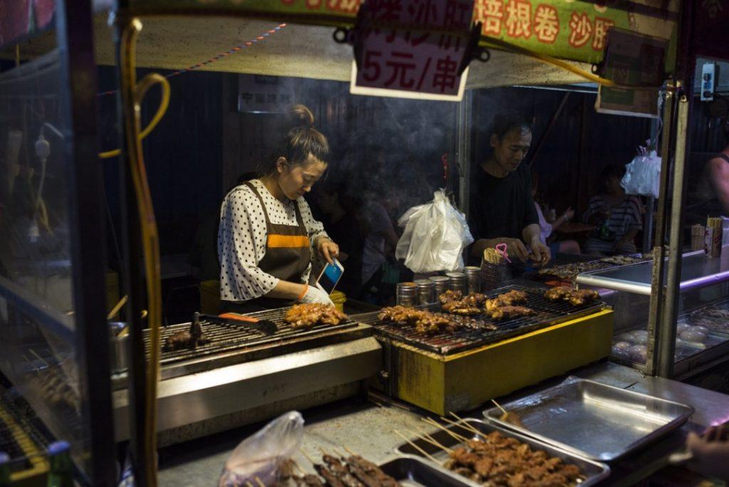 Street foods in Dangdong