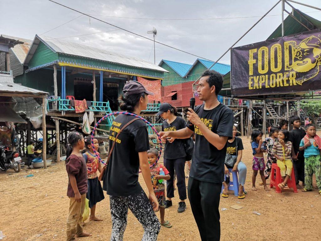 Food explorers in floating village siem reap
