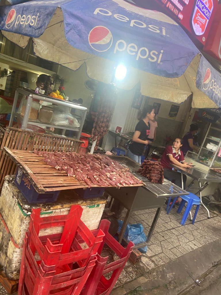 buffalo meat in Phnom Penh