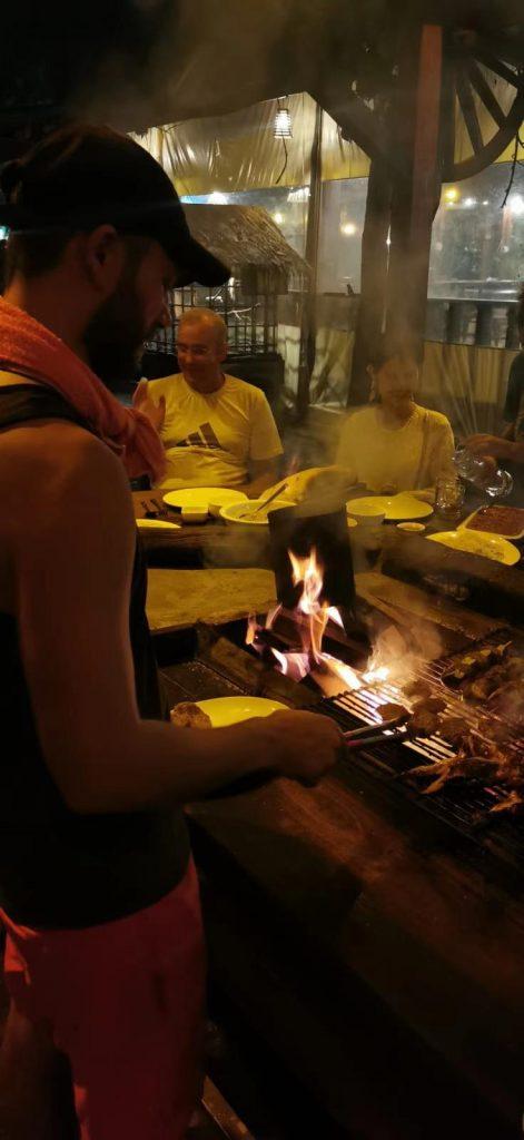 preparing food in koh rong