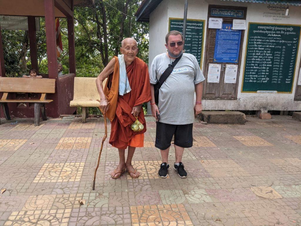 95 year old monk at Phnom Sombok