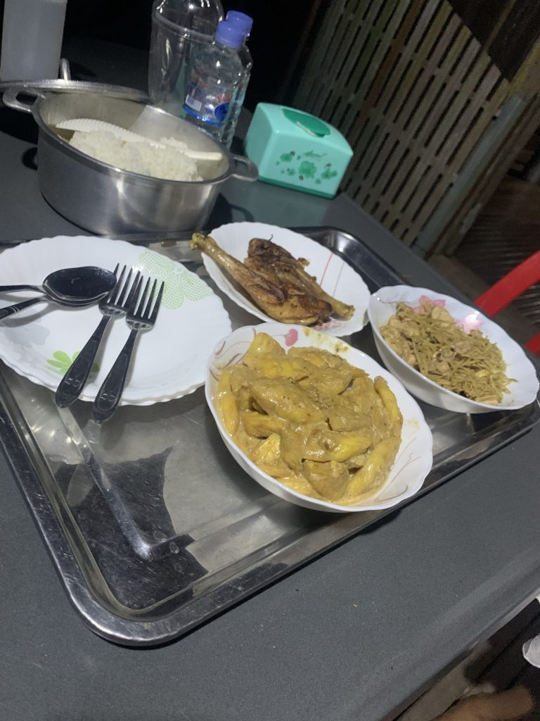 Homestay meal Koh Trong