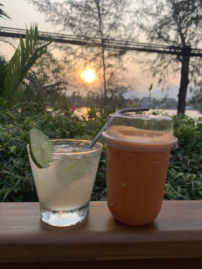 best sunsets in Kampot