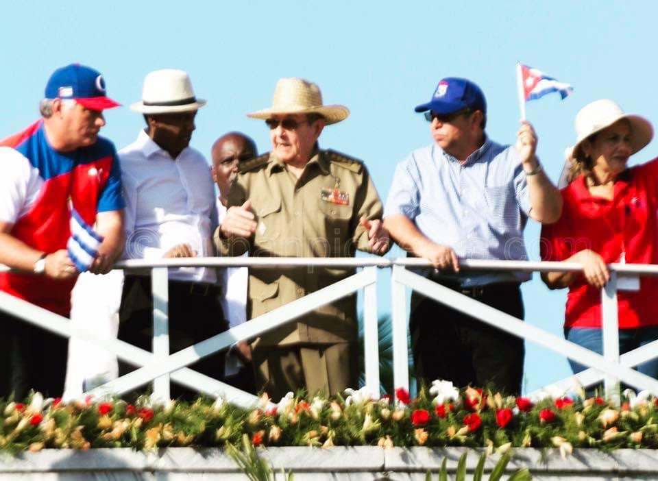 Raul Castro May Day in Cuba